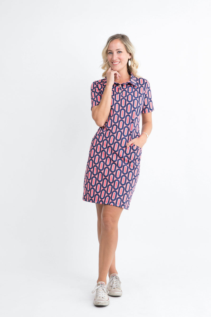 Austin Dress Folksong Flamingo DRESSES Katherine Way Collections