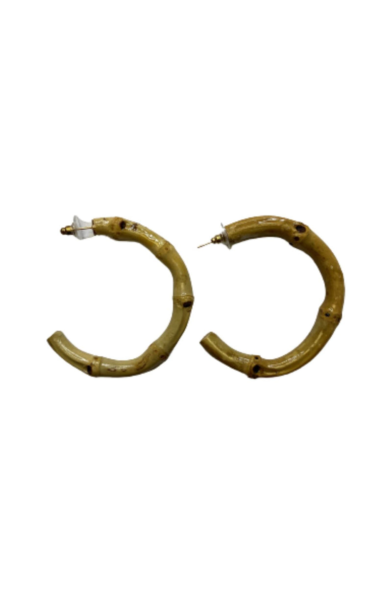 BAMBOO HOOP EARRINGS JEWELRY GOLDEN STELLA