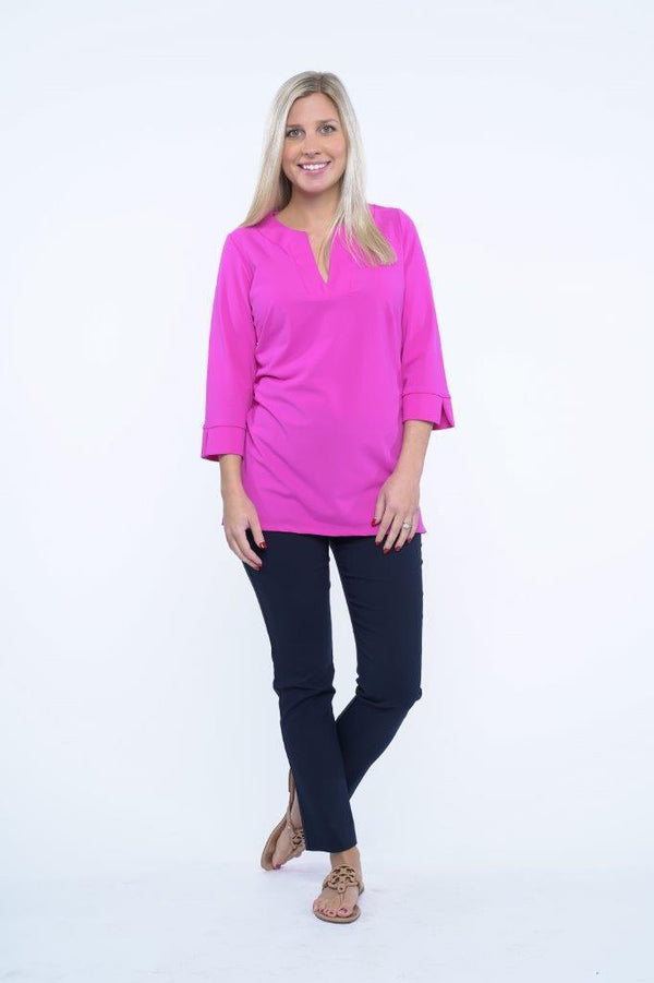 Boca Tunic Fuchsia TOPS Katherine Way Collections Fuchsia XS