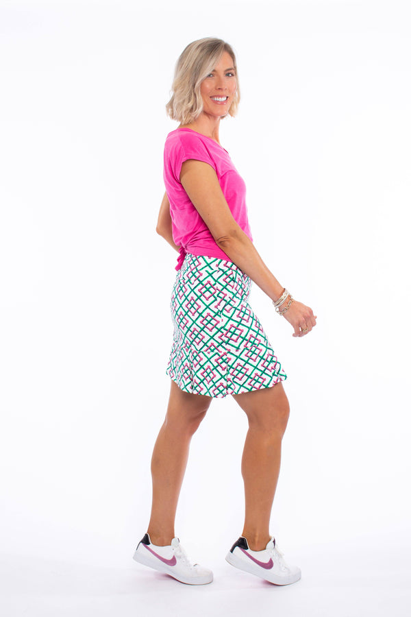 BROADMOOR SKORT BAMBOO FENCE PINK BOTTOMS KATHERINE WAY