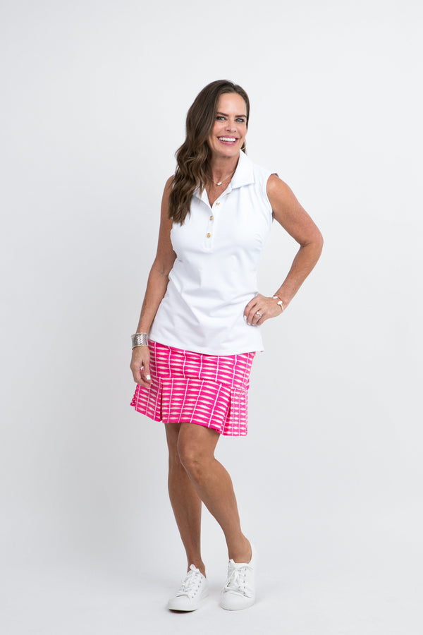 Broadmoor Skort Shibori Geranium BOTTOMS Katherine Way Collections Shibori Geranium XS