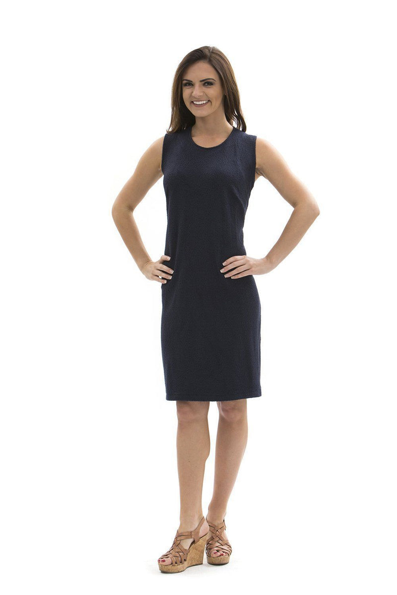 Brooklyn Dress Navy DRESSES Katherine Way Collections Navy XS