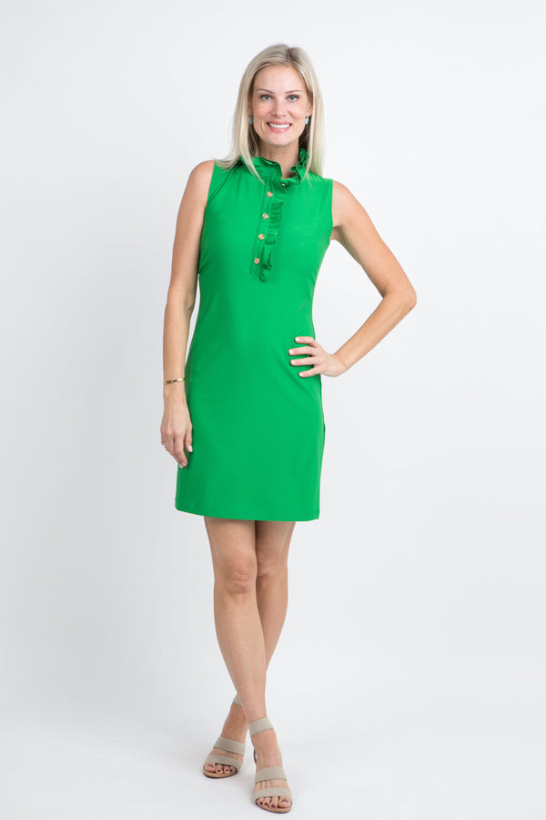 Campeche Dress Green DRESSES Katherine Way Collections Green XS