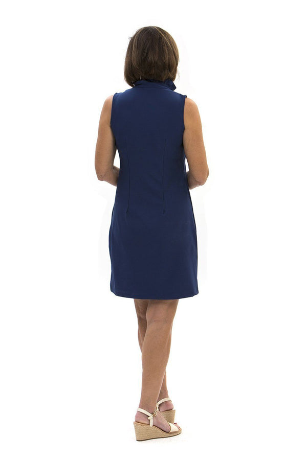 Campeche Dress Navy DRESSES Katherine Way Collections