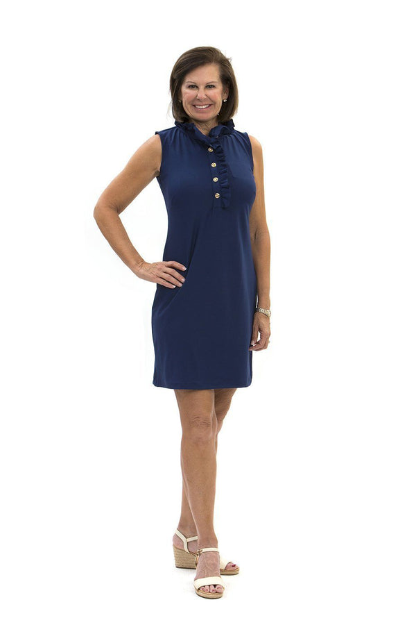 Campeche Dress Navy DRESSES Katherine Way Collections Navy XS