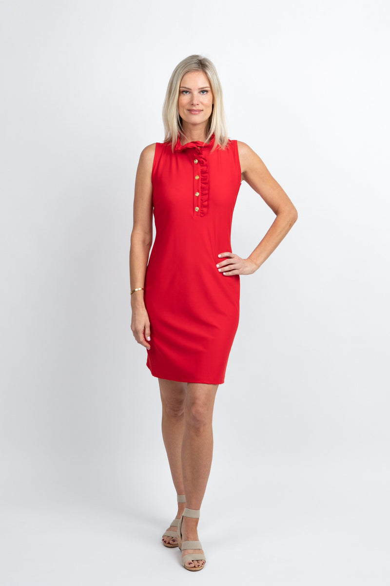 Campeche Dress Red DRESSES Katherine Way Collections Red XS