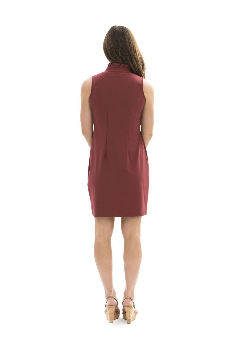 Campeche Dress Ruby Wine DRESSES Katherine Way Collections