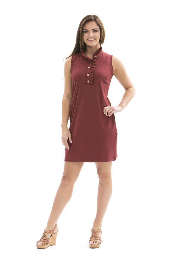 Campeche Dress Ruby Wine DRESSES Katherine Way Collections Ruby Wine XS