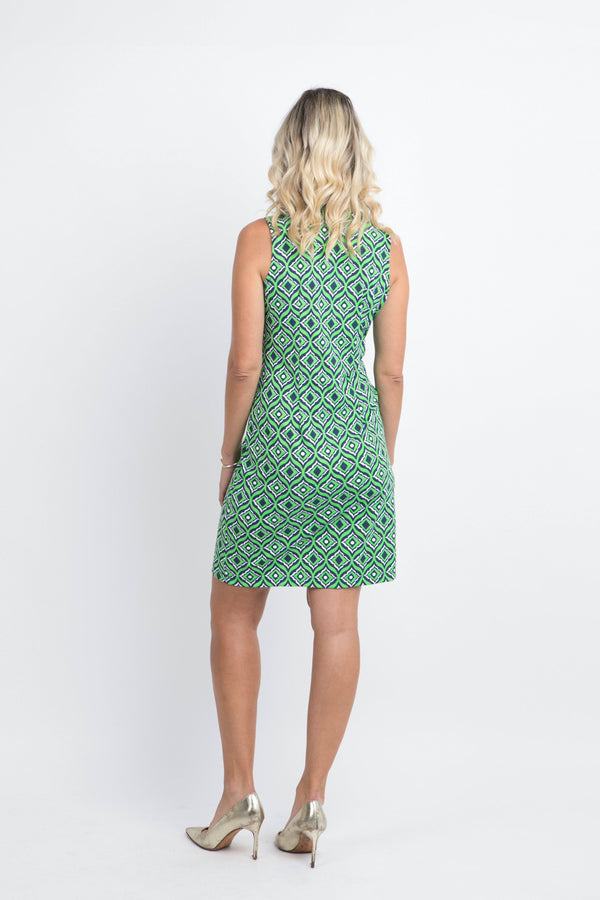 Campeche Dress Trevino Navy Lime DRESSES Katherine Way Collections