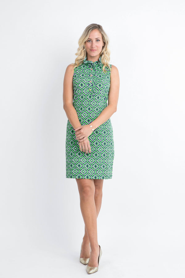 Campeche Dress Trevino Navy Lime DRESSES Katherine Way Collections Trevino Navy Lime XS