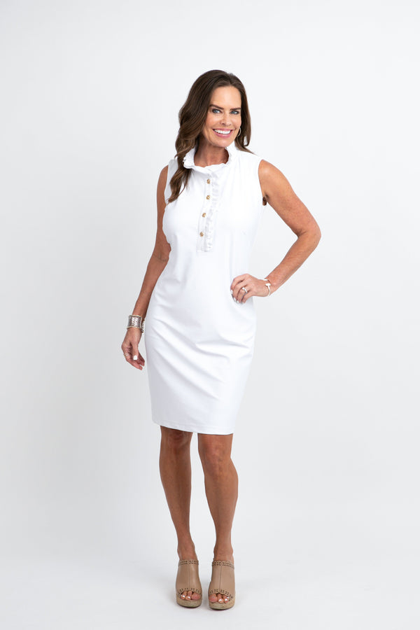 Campeche Dress White DRESSES Katherine Way Collections White XS