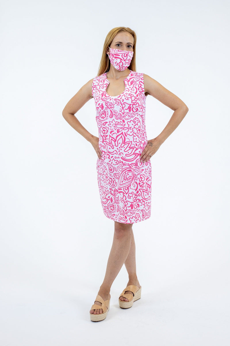 Captiva Dress Floral Fun Pink DRESSES Katherine Way Collections
