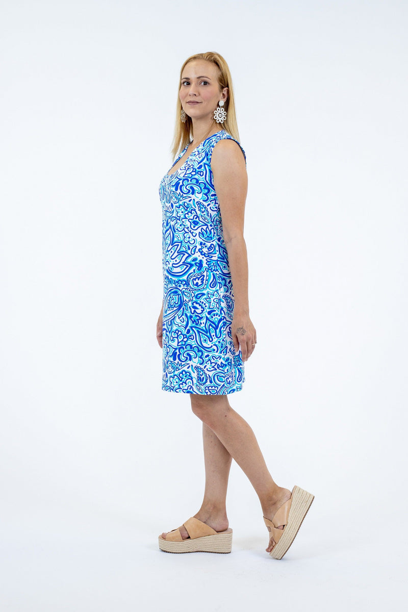 Captiva Dress Floral Fun Royal DRESSES Katherine Way Collections