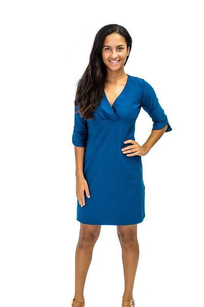 Charlotte Dress Navy DRESSES Katherine Way Collections Navy XS