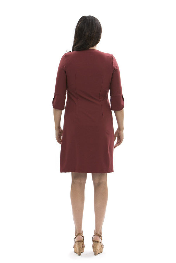 Charlotte Dress Ruby Wine DRESSES Katherine Way Collections