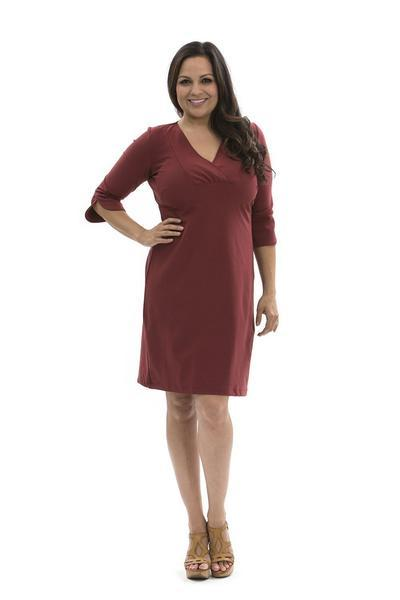 Charlotte Dress Ruby Wine DRESSES Katherine Way Collections Ruby Wine XS