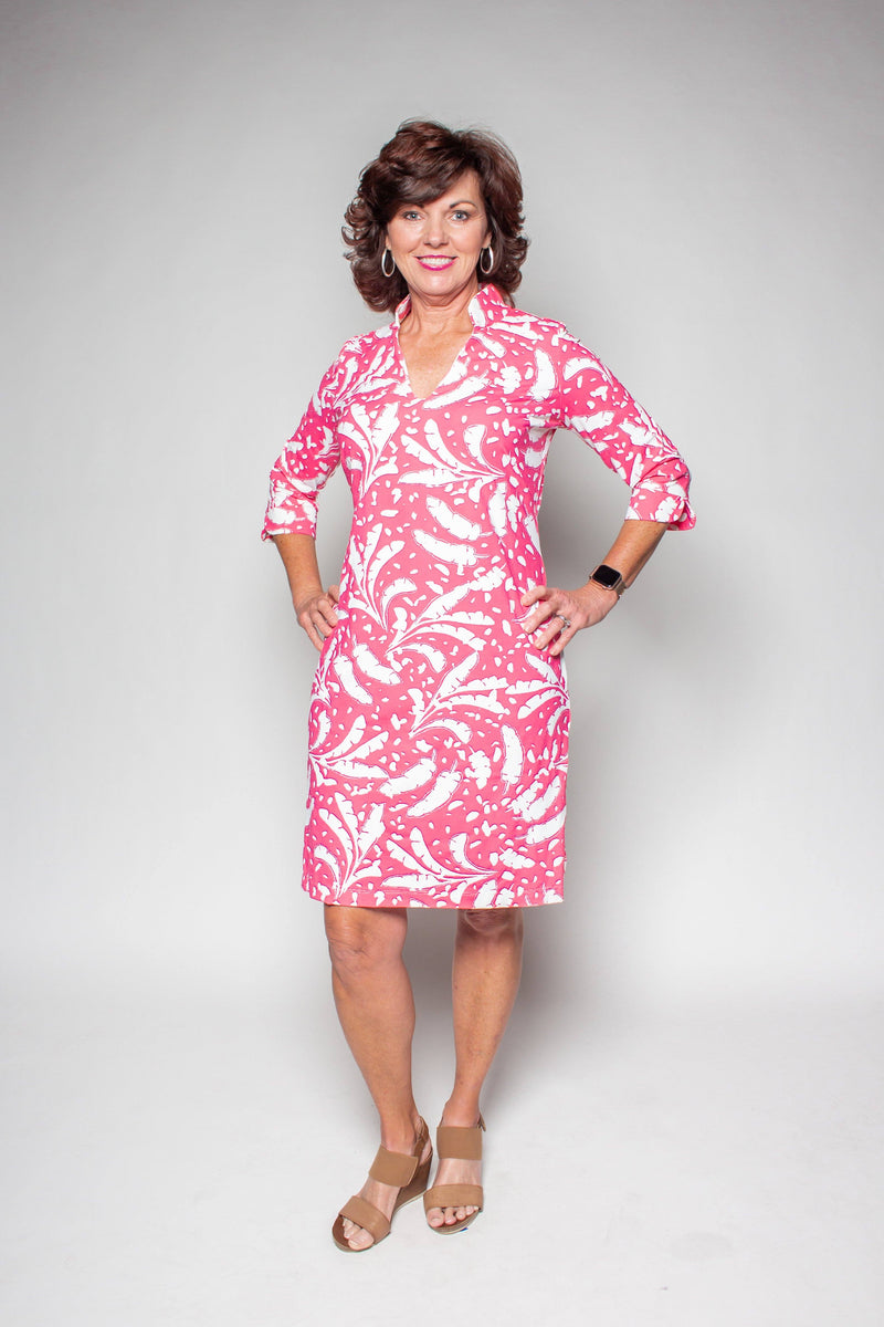 COCO DRESS BANANA LEAVES PINK DRESSES KATHERINE WAY