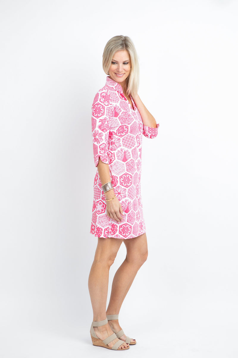 Coco Dress Chinese Paper Pink DRESSES Katherine Way Collections