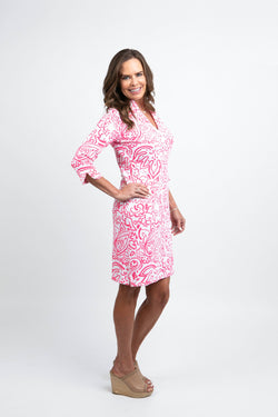 Coco Dress Floral Fun Pink DRESSES Katherine Way Collections
