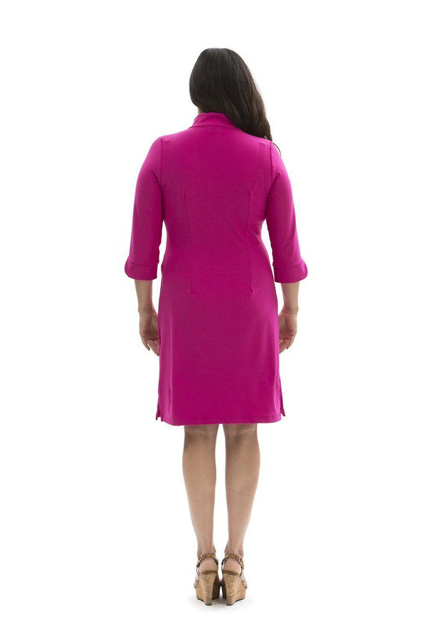 Coco Dress Hot Pink DRESSES Katherine Way Collections Hot Pink XS
