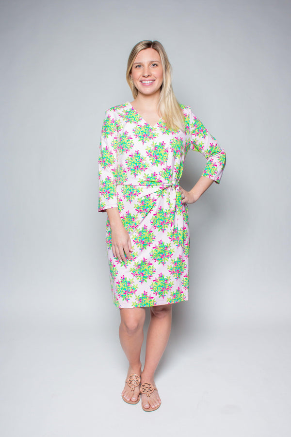 CORONADO DRESS FLOWER BOUQUET PINK LIME DRESSES KATHERINE WAY