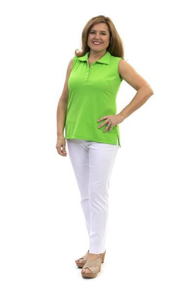 Cypress Polo Lime TOPS Katherine Way Collections Lime XS