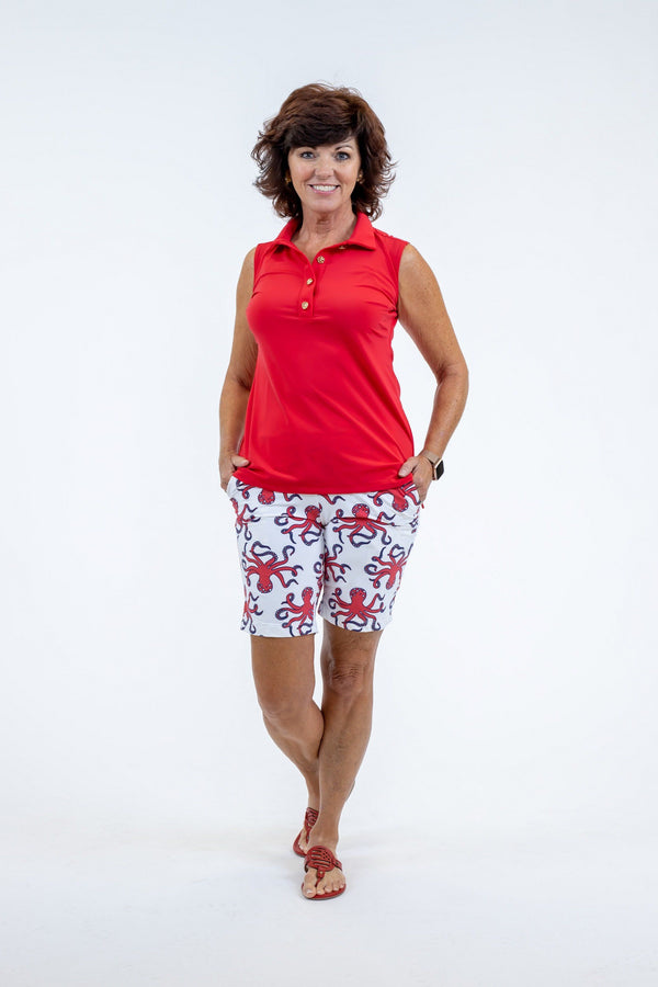 Cypress Polo Red TOPS Katherine Way Collections