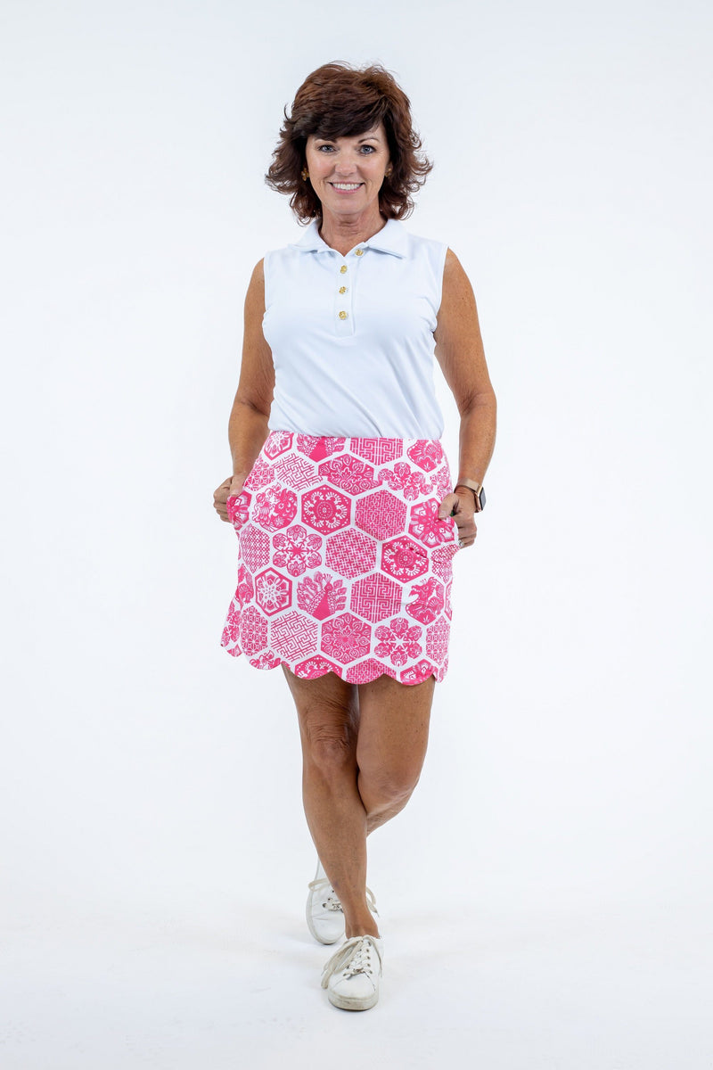 Delray Skort Chinese Paper Pink BOTTOMS Katherine Way Collections