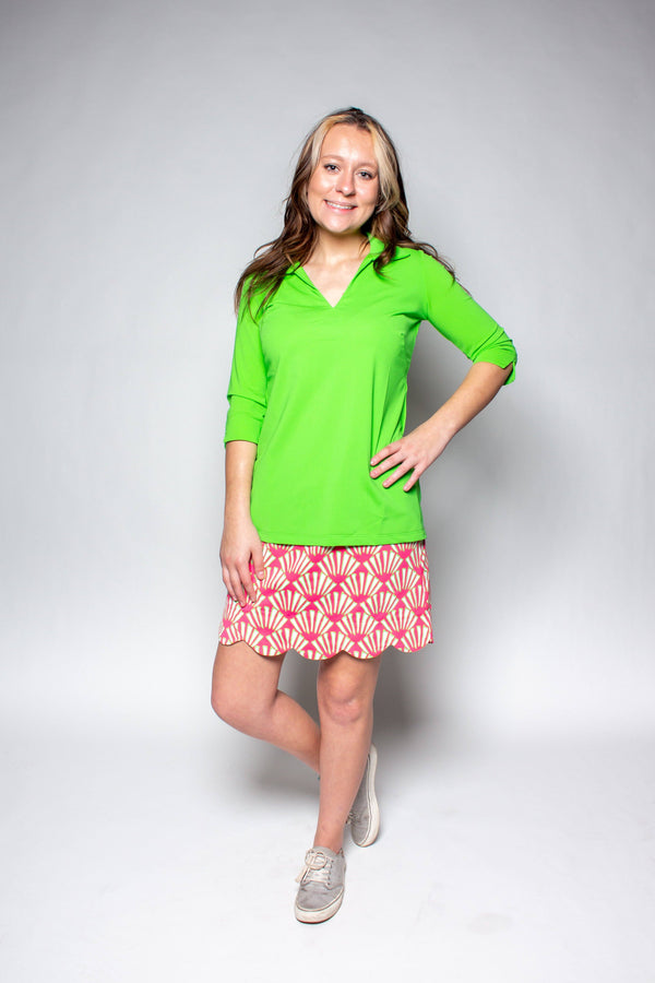 DELRAY SKORT SEASHELLS PINK LIME BOTTOMS KATHERINE WAY