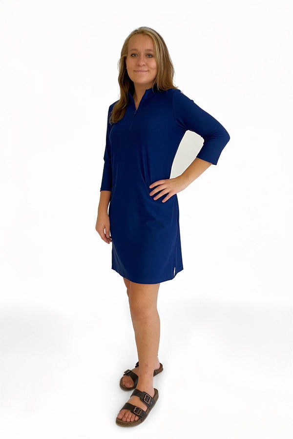 DORAL DRESS NAVY DRESSES KATHERINE WAY