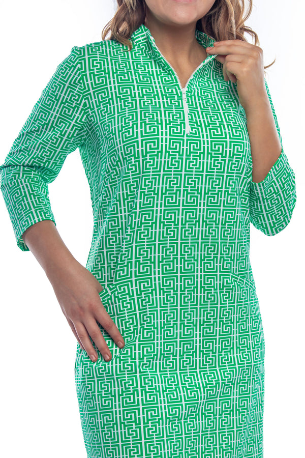DORAL DRESS PUZZLE MAZE GREEN DRESSES KATHERINE WAY