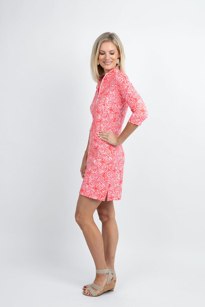Doral Dress Roses Coral DRESSES Katherine Way Collections