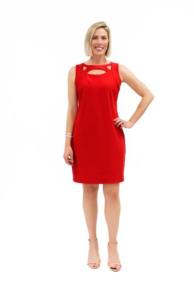 Folly Dress Red DRESSES Katherine Way Collections Red XS