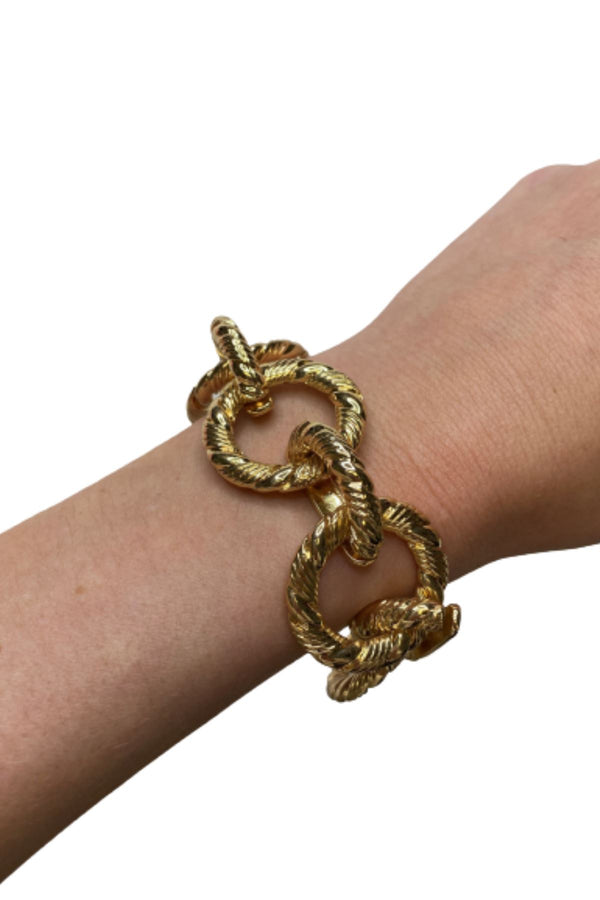 GOLD TWISTED LINK BRACELET JEWELRY GOLDEN STELLA