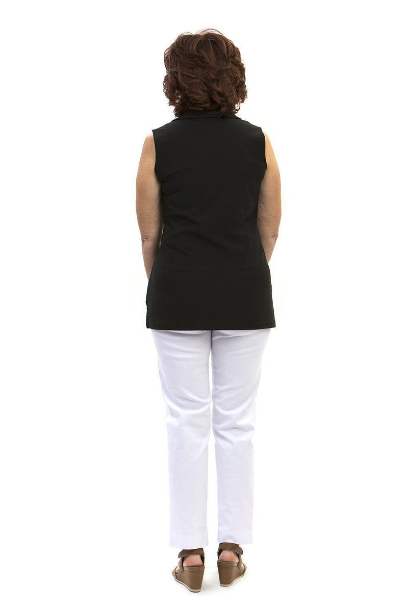 Hatteras Tunic Black TOPS Katherine Way Collections