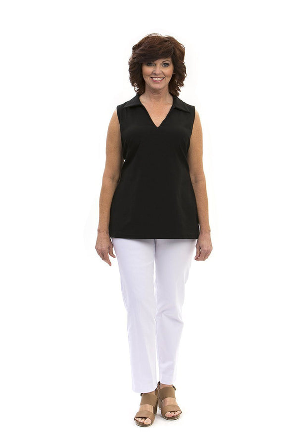 Hatteras Tunic Black TOPS Katherine Way Collections Black XS
