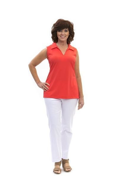 Hatteras Tunic Coral TOPS Katherine Way Collections Coral XS