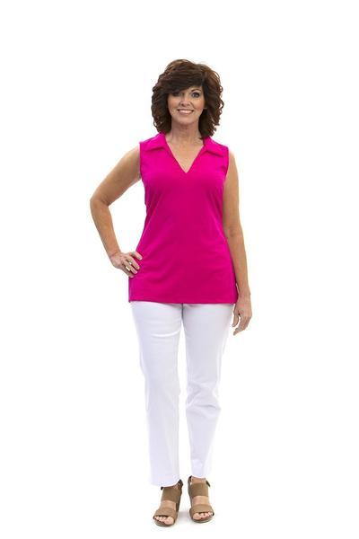 Hatteras Tunic Geranium TOPS Katherine Way Collections Geranium XS