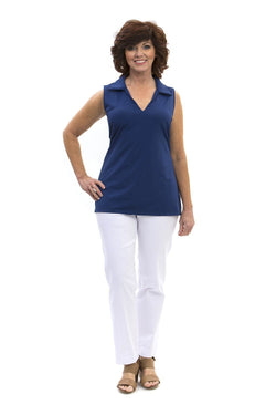 Hatteras Tunic Navy TOPS Katherine Way Collections Navy XS