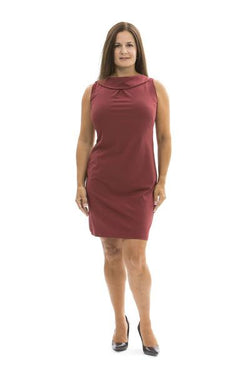 Jackie Dress Ruby Wine DRESSES Katherine Way Collections Ruby Wine XS