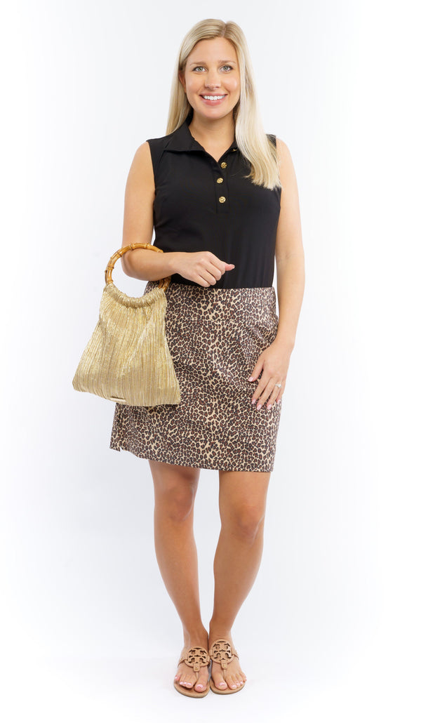 Kiawah Skort Leopard Brown Tan BOTTOMS Cardan Designs