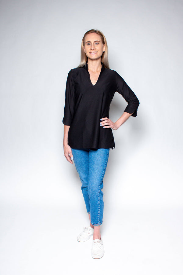 LARGO TUNIC BLACK TOPS KATHERINE WAY