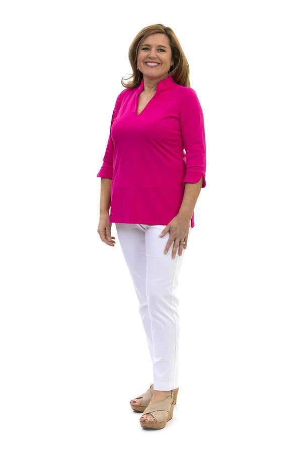 Largo Tunic Geranium TOPS Katherine Way Collections Geranium XS