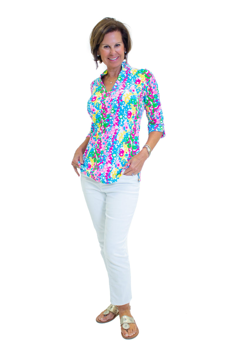 Largo Tunic Mardi Gras Beads TOPS Katherine Way Collections