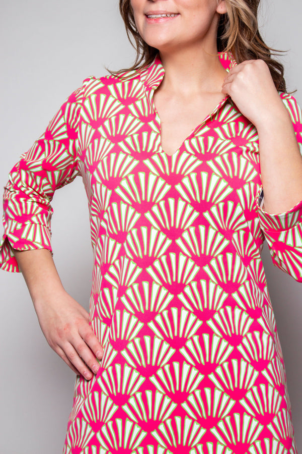 LARGO TUNIC SEASHELLS PINK LIME TOPS KATHERINE WAY