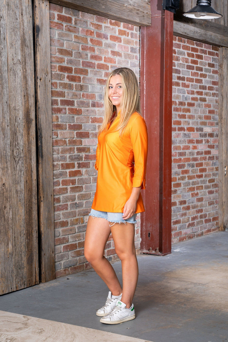 Largo Tunic Tennessee Orange TOPS Katherine Way Collections