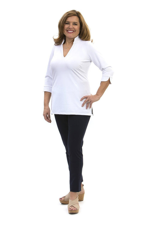 Largo Tunic White TOPS Katherine Way Collections White XS