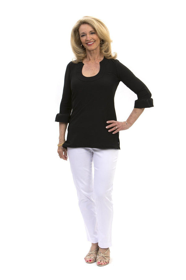 Marco Tunic Black TOPS Katherine Way Collections Black XS