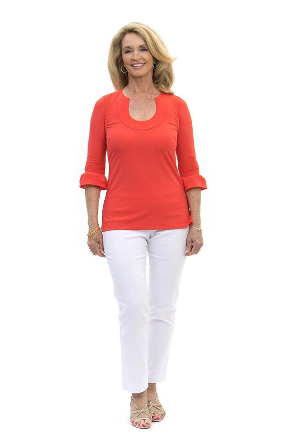 Marco Tunic Coral TOPS Katherine Way Collections Coral XS