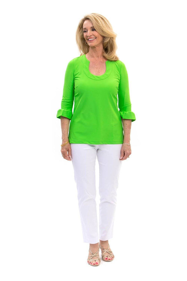Marco Tunic Lime TOPS Katherine Way Collections Lime XS